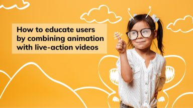 Animation and live action video combined to educate users