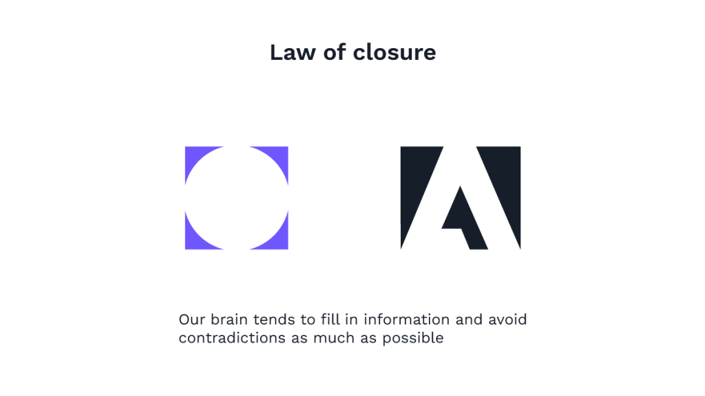 UX laws: Law of closure
