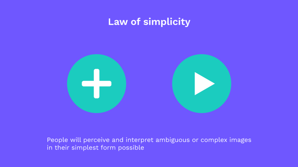 UX laws: law of simplicity in accessibility buttons designed in video players